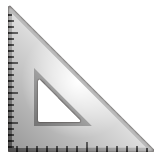 Triangular Ruler whatsapp emoji