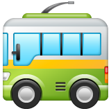 Trolleybus whatsapp emoji
