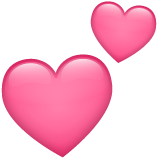 Two Hearts whatsapp emoji