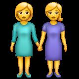 Two Women Holding Hands whatsapp emoji
