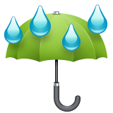Umbrella With Rain Drops whatsapp emoji