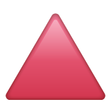 Up-pointing Red Triangle whatsapp emoji