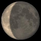 Waning Crescent Moon Symbol whatsapp emoji