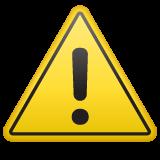 Warning Sign whatsapp emoji