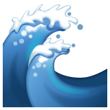 Water Wave whatsapp emoji