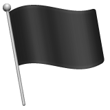 Waving Black Flag whatsapp emoji