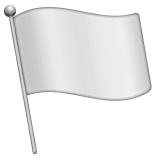 Waving White Flag whatsapp emoji