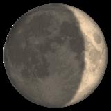 Waxing Crescent Moon Symbol whatsapp emoji