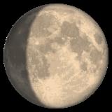 Waxing Gibbous Moon Symbol whatsapp emoji