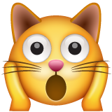 Weary Cat Face whatsapp emoji