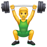 Weight Lifter whatsapp emoji