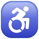 Wheelchair Symbol whatsapp emoji