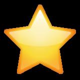 White Medium Star whatsapp emoji
