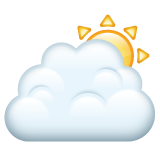 White Sun Behind Cloud whatsapp emoji
