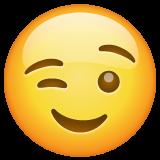 Winking Face whatsapp emoji