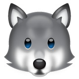 Wolf Face whatsapp emoji