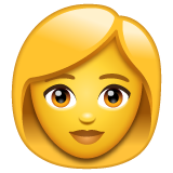 Woman whatsapp emoji