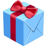 Wrapped Present whatsapp emoji