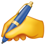 Writing Hand whatsapp emoji